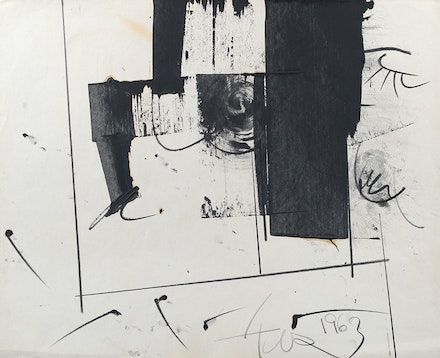 <p>Hassel Smith, <em>Untitled</em> (1963) Graphite and ink on paper. Courtesy Washburn Gallery, New York.</p>