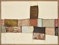 <p>Nuvolo (Giorgio Ascani), <em>Untitled</em>, 1960. Sewn canvas and deerskin, 55 x 72 cm. Collection Renghi, Cittàdi Castello. Courtesy Di Donna Gallery.</p>