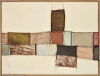 <p>Nuvolo (Giorgio Ascani), <em>Untitled</em>, 1960. Sewn canvas and deerskin, 55 x 72 cm. Collection Renghi, Cittàdi Castello. Courtesy Di Donna Gallery.</p>
