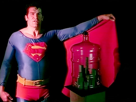 "<p>Mike Kelley, <em>Still from 'Superman Recites Selections from ""The Bell Jar"" and Other Works by Sylvia Plath'</em>, 1999. Video. Art © Mike Kelley Foundation for the Arts. All Rights Reserved / Licensed by VAGA, New York, NY. Courtesy the Mike Kelley Foundation for the Arts and Hauser & Wirth.</p>"