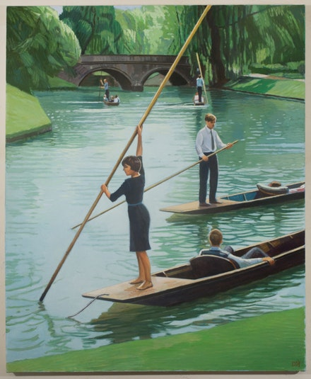 <p>Duncan Hannah, <em>Punting on the Cam</em>, 2010. Oil on canvas, 44 x 35 inches. Courtesy Invisible Exports.</p>