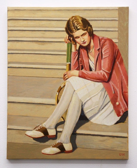 <p>Duncan Hannah, <em>Girl from Tuxedo Park</em>, 2014. Oil on canvas, 20 x 16 inches. Courtesy Invisible Exports.</p>