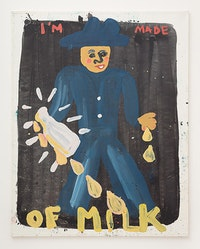 <p>Kate Groobey, <em>I'm Made Of Milk</em>, 2017. Oil on canvas. 73 x 59 inches. Courtesy the artist.</p>