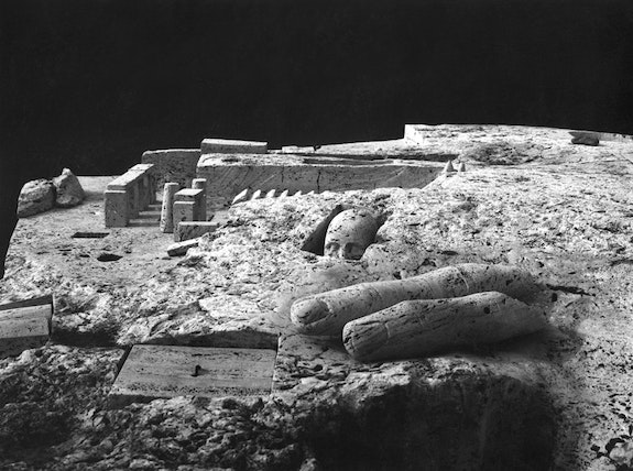 Gonzalo Fonseca, <em>Castalia</em> (detail), 1980. Roman travertine. Courtesy the Estate of Gonzalo Fonseca.
