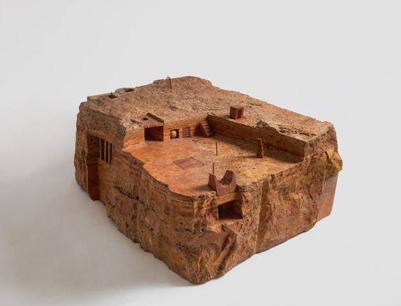 Gonzalo Fonseca, <em>Piazza</em>, 1985. Persian travertine. 15 3/4 x 31 7/8 x 44 1⁄2 in.ches. Photo: EPW Studio/Maris Hutchinson.