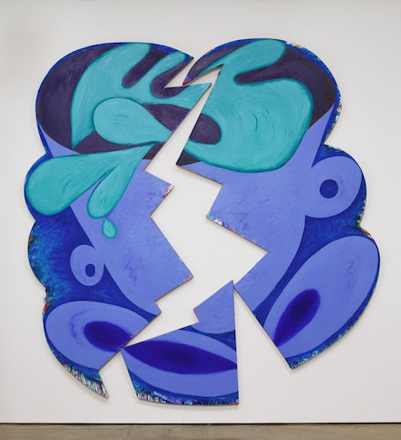 Elizabeth Murray, <em>Wake Up</em>, 1981. Oil on canvas (three parts) 111 1/8 x 105 5/8 x 1 5/8. Photo: Kerry Ryan McFate, courtesy Pace Gallery &copy; 2017 The Murray-Holman Family Trust / Artists Rights Society (ARS), New York