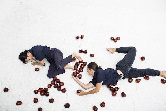 (L to R) Christine Bonansea and Julia Discenza in <em>A My Name Is.</em> (Photo: Maria Baranova)