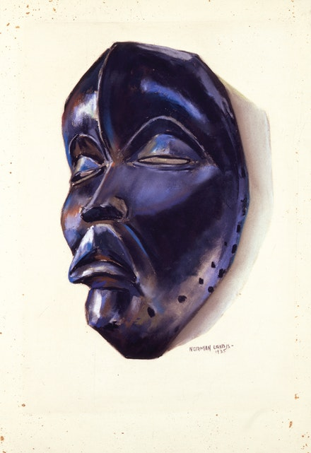 Norman Lewis (1909-1979) Dan Mask, 1935. Pastel on sandpaper, 18 1/8 x 12 1/2  inches, signed and dated. © Estate of Norman W. Lewis; Courtesy of Michael Rosenfeld Gallery LLC, New York, NY
