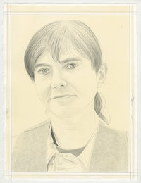 Portrait of Raha Raissnia, Pencil on Paper by Phong Bui