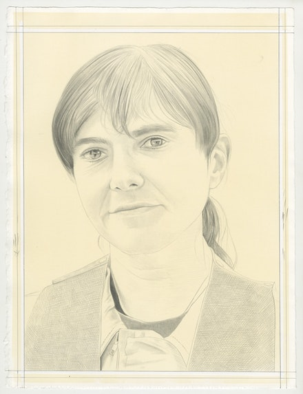 Portrait of Raha Raissnia, Pencil on Paper by Phong Bui