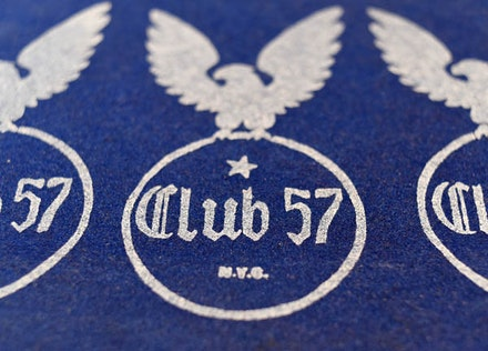 <p>Club 57 logo, designed by Stanley Strychacki. Photograph by John Harris   </p>