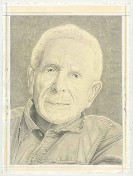 Portrait of Irving Petlin, pencil on paper by Phong Bui