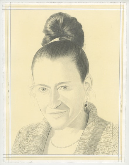 Portrait of Taney Roniger, pencil on paper by Phong Bui.