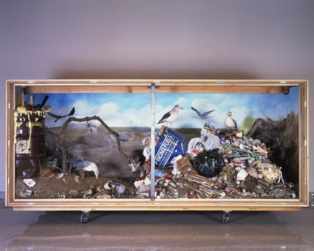 <p>Mark Dion, <em>Landfill</em>, 1999-2000. Mixed media, 71 ½ x 147 ½ x 64 inches. Museum of Contemporary Art San Diego, Museum purchase, Contemporary Collectors Fund. Photo by Pablo Mason. © Mark Dion.</p>