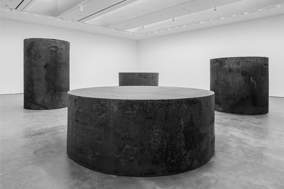 <p>Richard Serra,&nbsp;<em>Four Rounds: Equal Weight, Unequal Measure</em>, 2017. Installation view,&nbsp;<em>Richard Serra: Sculpture and Drawings</em>, David Zwirner, New York, 2017. Photo by Cristiano Mascaro. &copy; 2017 Richard Serra / Artists Rights Society (ARS), New York. Courtesy David Zwirner, New York/London</p>