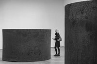 <p>Richard Serra, <em>Four Rounds: Equal Weight, Unequal Measure, </em>(2017). Installation view, Richard Serra: Sculpture and Drawings, David Zwirner, New York, 2017. Photo by Cristiano Mascaro. Copyright 2017 Richard Serra / Artist Rights Society (ARS), New York. Courtesy David Zwirner, New York/London.</p>