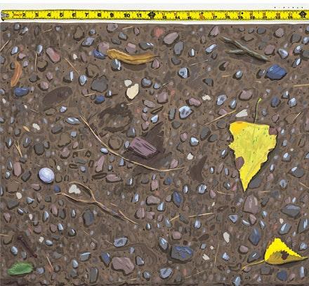 <p>Josephine Halvorson,<em>Broadsheet (Ground)</em>, (2017), Gouache and silkscreen on paper. 22.5 x 24.5 inches. 57.2 x 62.2 cm. &copy; Josephine Halvorson, courtesy of Sikkema Jenkins &amp; Co., New York.</p>