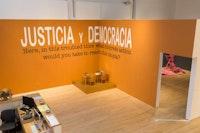 Pinto Mi Raya, Eduardo Abaroa, BTU Installation View, 2017. Photo by Ian Byers-Gamber, Courtesy Armory Center for the Arts