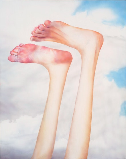 Robert Feintuch, <em>Feet Up</em>, 2013. Polymer emulsion on honeycomb panel, 23 3/4 x 19 inches. Museum purchase with the Leander W. Smith Fund. Courtesy Sonnabend Gallery, New York; Howard Yezerski Gallery, Boston; Zevitas/Marcus Gallery, Los Angeles; and the artist.