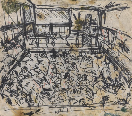 Leon Kossoff, <em>Children's Swimming Pool</em>, 1969.