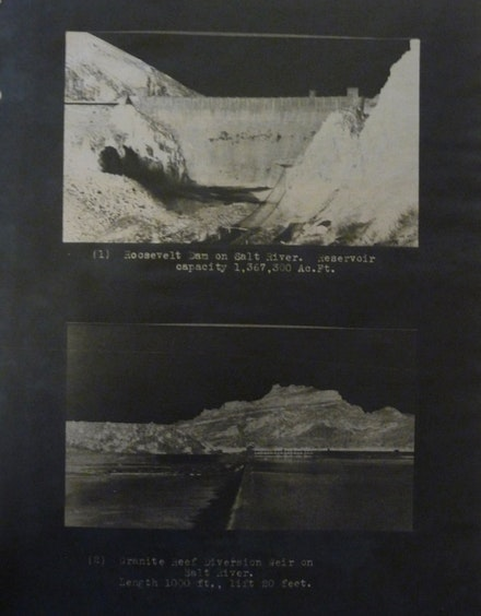 Roosevelt Dam Negative. From National Archives DC-RG75-Irrigation Division-Reports and Related Records-Box 48. Courtesy the author.