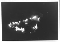 General Idea (a project of Ron Gabe, aka Felix Partz), <em>Burning Ziggurats</em>, 1968, Set of 4, gelatin silver print, 9 x 12.5 cm each, Courtesy Mitchell-Innes and Nash.  © General Idea.