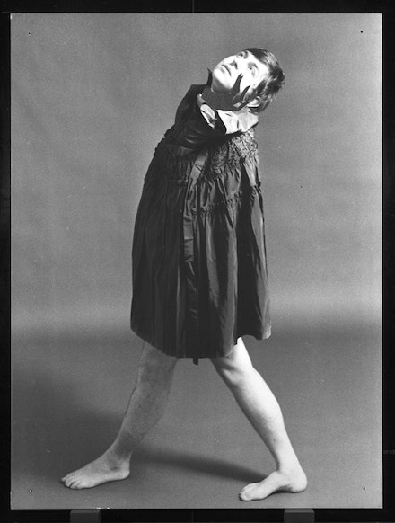 General Idea, <em>VB Gown from the 1984 Miss General Idea Pageant, Urban Armour for the Future</em>, 1975, Gelatin Silver Print, 10 by 8 in. 25.4 by 20.3 cm, Courtesy Mitchell-Innes and Nash.  © General Idea.
