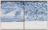 Marjorie Welish, B<em>efore After Oaths Gray 6</em>, 2013, acrylic on wood panels, 20