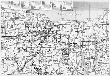 Digital scan of upstate New York map.