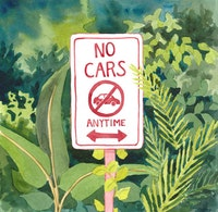 <em>No Cars,</em> Illustration by Megan Piontkowski