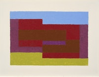 Josef Albers, <em>To Mitla</em>, ca. 1940. Oil on Masonite, 53.3 centimeters x 71.1 centimeters. Courtesy of The Josef and Anni Albers Foundation. © 2017 The Josef and Anni Albers Foundation/Artists Rights Society (ARS), New York.