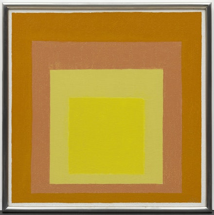 Josef Albers, <em>Study for Homage to the Square:  Consent</em>, 1947. Oil on Masonite, 40.3 centimeters x 40.2 centimeters. Courtesy of Solomon R. Guggenheim Museum, New York, Gift, The Josef Albers Foundation Inc., 1991 © 2017 The Josef and Anni Albers Foundation/Artists Rights Society (ARS), New York.
