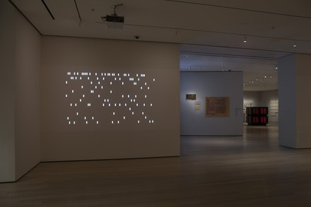 Installation view of Thinking Machines:Art and Design in the Computer Age, 1959–1989. The Museum of Modern Art, New York, November 13, 2017–April 8, 2018. ©2017 The Museum of Modern Art. Photo by Peter Butler.