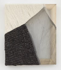 Martha Tuttle, <em>Sierra Negra (1)</em>, 2018. Wool, silk, pigment, 12 inches x 10 inches. Courtesy the artist and Tilton Gallery.