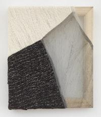 Martha Tuttle, <em>Sierra Negra (1)</em>, 2018. Wool, silk, pigment, 12 inches x 10 inches. Courtesy the artist and Tilton Gallery.