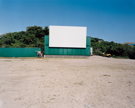 Tina Barney, <em>Drive-In</em>, 2017. Chromogenic color print, 20 x 24 inches. Edition of 5. © Tina Barney, Courtesy Paul Kasmin Gallery.