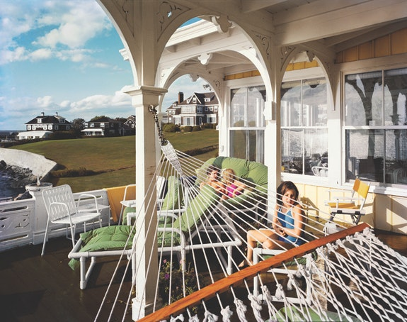 Tina Barney, <em>Ada's Hammock</em>, 1982. Chromogenic color print. © Tina Barney, Courtesy Paul Kasmin Gallery.