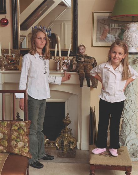 Tina Barney, <em>The Little Sister</em>, 2002. Chromogenic color print, 40 x 30 inches. Edition of 5. © Tina Barney, Courtesy Paul Kasmin Gallery.