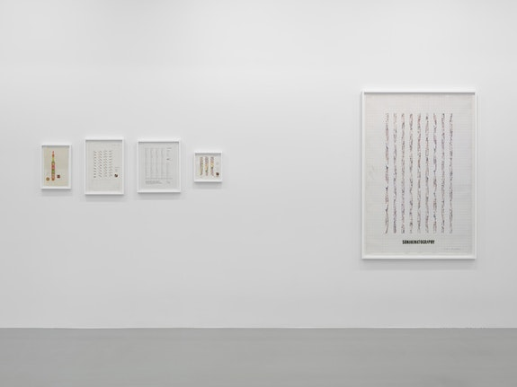<p>Installation view of Channa Horwitz at Lisson Gallery, New York. © Estate of Channa Horwitz; Courtesy Lisson Gallery. Photo by George Darrell.</p>