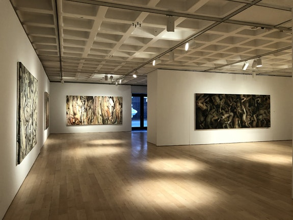 Installation view of Vincent Desiderio, Marlborough Gallery. ©Vincent Desiderio, courtesy Marlborough Gallery, New York