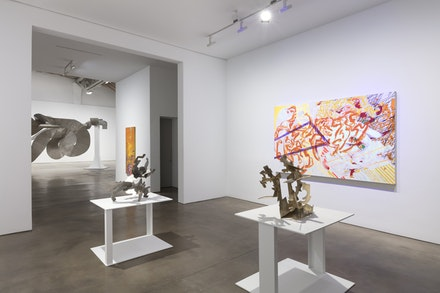 Installation view of Mark Di Suvero, 2018, Paula Cooper Gallery. Courtesy Paula Cooper Gallery.