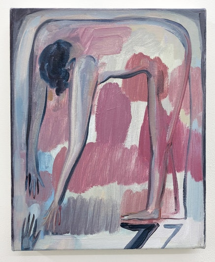 <p>Eve Ackroy in Group Motivation, Cinder Rucker Gallery.<br />Courtesy of Cinder Rucker Gallery.</p>