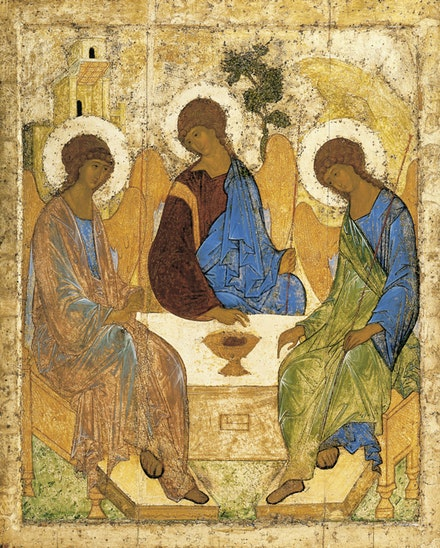 Andrei Rublev, <em>Icon of the Trinity</em>, 15th Century.