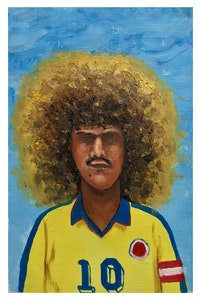 Esteban Ocampo Giraldo, <em>Valderrama, Francia '98</em>, 9 x 6 inches. Courtesy the artist and Gilter&_____.