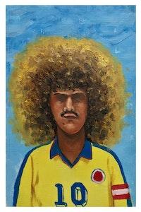Esteban Ocampo Giraldo, <em>Valderrama, Francia '98</em>, 9 x 6 inches. Courtesy the artist and Gilter&_____.