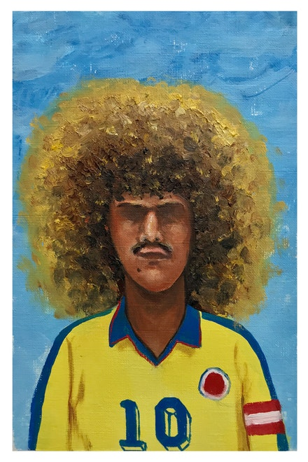 Esteban Ocampo Giraldo, <em>Valderrama, Francia '98</em>, 9 x 6 inches. Courtesy the artist and Gilter&amp;_____.