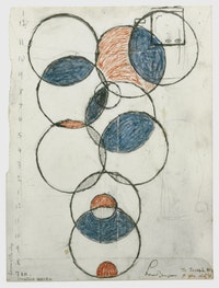 Louise Bourgeois, <em>Hours of the Day / Creative Energie,</em> 1990, ink, crayon and pencil on paper, 12 1/2 x 9 1/2 inches, & The Easton Foundation/VAGA, NY, Photo: Zindman/Fremont, private collection.