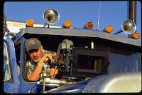 Rob Cohen on the set directing <em>The Fast and the Furious</em> (2001)