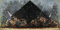 Jack Whitten, <em>9.11.01</em>, 2006. Acrylic and mixed media on canvas, 120 x 240 inches. © Jack Whitten. Courtesy the artist and Hauser & Wirth.