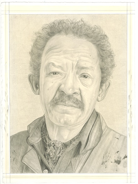 Portrait of Jack Whitten, pencil on paper by Phong Bui.
